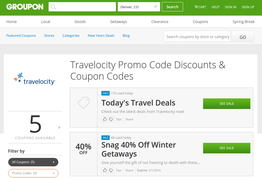 Save big on your next trip with Groupon's Travelocity deals